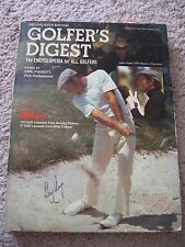 Gary Player Signed 1974 Golfer's Digest- 6th Edition- Master's Champion