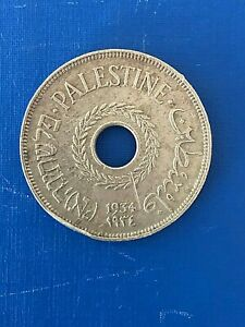 Palestine 20 Mils, 1934, Key Date, Only 125,000 minted, Very Rare Coin