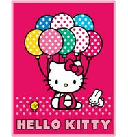 "Hello Kitty Fleece Blanket 50 x 60"" Plush Throw Blanket Offically by Sanrio"