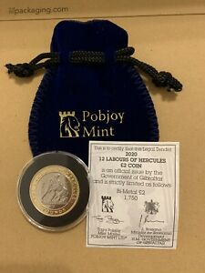 2020 Gibraltar £2 Pound Proof-Like Labours of Hercules Nemean Lion Coin