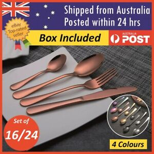 Cutlery Set Deluxe Stainless Steel Knife Fork Spoon Teaspoon Kitchen Sets AU