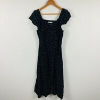 Whistles Womens Dress Size 12 Polka Dot Long Length Good Condition Gorgeous