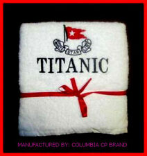 NEW TITANIC FIRST CLASS PASSENGERS COURTESY BATH TOWEL EXCELLENT QUALITY CP MADE