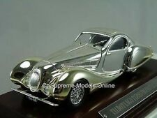TALBOT LAGO T150SS FIGONI CAR 1/43 PLATED FINISH & WOOD BASE VERSION R0154X ^**^