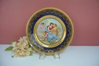 """Royal Vienna Beehive Mark Cobalt Blue Cabinet 8"""" Plate with Chip"""