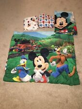 Disney Mickey Mouse Toddler Bedding Set Comforter Sheets Pillow Case Lot