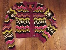 Missoni For Target Girls Size Medium 7/8 Chevron Zig Zag Cardigan NWOT