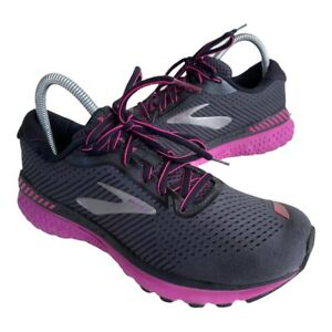 Brooks Adrenaline 20 GTS XX Womens Size 8 Navy Pink Running Shoes Sneakers