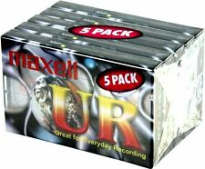 5 x Maxell UR-90 Audio Cassette Tape 90minute 90 min blank audio tape