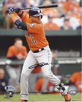 Yulieski Gurriel Autographed Houston Astros 8x10 Photo Witness Beckett