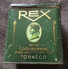 "1915 Panama Pacific Expo REX TOBACCO ""Gold Medal""  Pipe & Cigarette Tobacco Tin"
