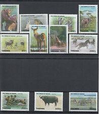 Echte Briefmarken mit Wildtier-Motiven aus Tansania
