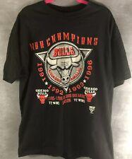 New listing Vintage 1996 Chicago Bulls Nba Champions Xl Black