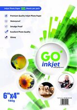 200 Sheets 6x4 180gsm Glossy Photo Paper for Inkjet Printers by Go Inkjet