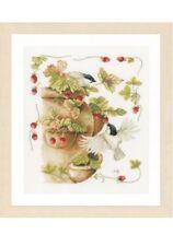 New Lanarte Cross Stitch kit 0168599 Strawberries & Birds