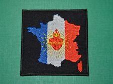 N°11 écusson patch insigne tissu France Sacré Coeur de Jésus ESF scoutisme