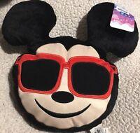 Mickey Mouse Disney Emoji Plush Pillow Cute NEW Kids Room Decor Black Red