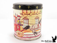 Vtg. Sea Coast Candy Company Avon NJ Candy Tin Can Horse & Carriage Street Scene