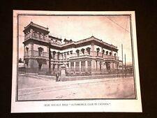 Sede sociale dell'Automobil Club di Catania nei primi del 1900