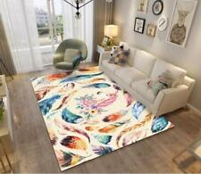 3D Feather Unicorn Floral Non-Slip Rug Door Shower Play Mat Hearth Floor Carpet