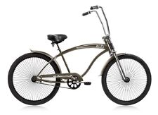 "Micargi ROVER-GT-MGREY Men's 26"" Chopper Cruiser Bicycle Bike, Matte Grey"