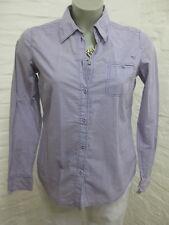 ESPRIT schöne Bluse Hemd Gr. 36, Lila-Weiß sehr fein kariert, Klassisch *446