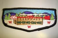 OA HO-DE-NO-SAU-NEE 159 FRONTIER COUNCIL SCOUT PATCH LONGHOUSE SERVICE FLAP