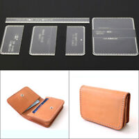 Leather Craft Clear Acrylic Card Holder Pattern Stencil Template Tool DIY Set