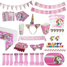 Unicorn Party Supplies Pack [15 Guests] WITH Sash and Horn Unicorn Headband