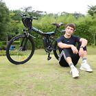 26''Bicicletta Elettrica Mountain Bike 350W Bici Elettrica Pieghevole 21velocità