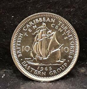 1965 British East Caribbean States 10 cents, Elizabeth II, UNC, KM-5 (EC2)  /N59