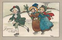 Florence Hardy  Boy & two girls of long ago  Skating