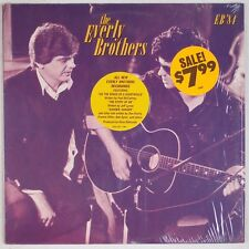 THE EVERLY BROTHERS: EB '84 Shrink Rock Vinyl LP w/ Sticker