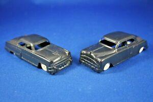 Plasticville - O-O27 - #V-6 Original - Automobiles (2) BLACK - Hard-to-Find