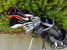 TaylorMade Burner Complete 14pc Golf Club Set + Bag Stiff Flex
