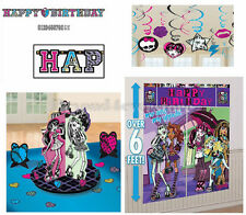 Monster High Birthday Party Pack (Banner, Wall Poster, Swirls & Table Decor Kit)