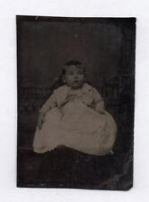 PHOTO ANCIENNE CDV Tintype Ferrotype Vers 1870 Bébé Hidden Mother Robe Flou