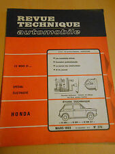 RTA revue technique HONDA n° 275 mars 1969