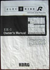 Korg ER-1 Electribe R Rhythm Synthesizer Station Original Owner's Manual Book