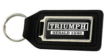 Triumph Herald 13/60 Rectangle Black Leather Keyring