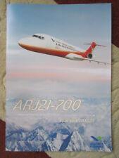 2015-2016 DOCUMENT RECTO VERSO CHINA COMAC ARJ21-700 REGIONAL JET AIRLINER AVION