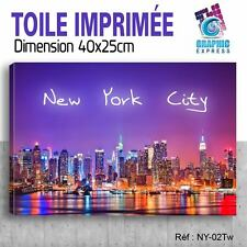 40x25cm -TABLEAU TOILE IMPRIMEE MODERNE DECORATION MURALE - NEW YORK - NY-02Tw
