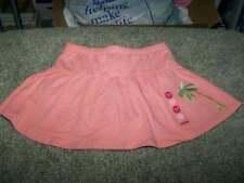 NWT New Gymboree Aloha Wahine Palm Knit Skort  Sz 2T Orange Solid 100% Cotton