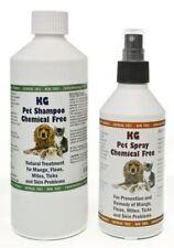 KG Wash & Go Pet Shampoo 500 ml & Spray 250 ml for Mange, Fleas & Skin Problems