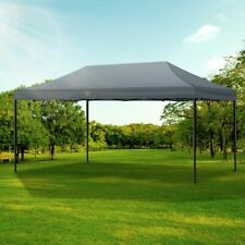 Gazebo Tent 3x6 Outdoor Marquee Gazebos Camping Canopy Wedding Folding Dark Grey