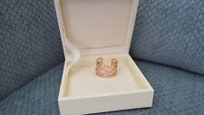 Ashlynn Ave. Emey 18K Rose Gold Plated Tiered Wrap Ring 0.45 Ctw ($180) size 7