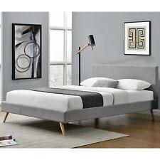 Polsterbett Doppelbett Bettgestell Skandinavisches Design 140 x 200cm Lattenrost