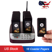 T113 Restaurant Customer Service Wireless Calling Paging System 16Pagers 433Mhz