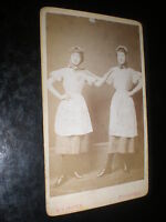 Cdv old photograph 2 women workers by Jasper at Stourbridge c1880s