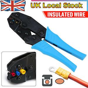 PRO Ratchet Crimper Plier Crimping Tool Cable Wire Electrical Terminals Kit Sets